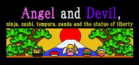 Angel and Devil,ninja,sushi,tempura,panda and the statue of liverty