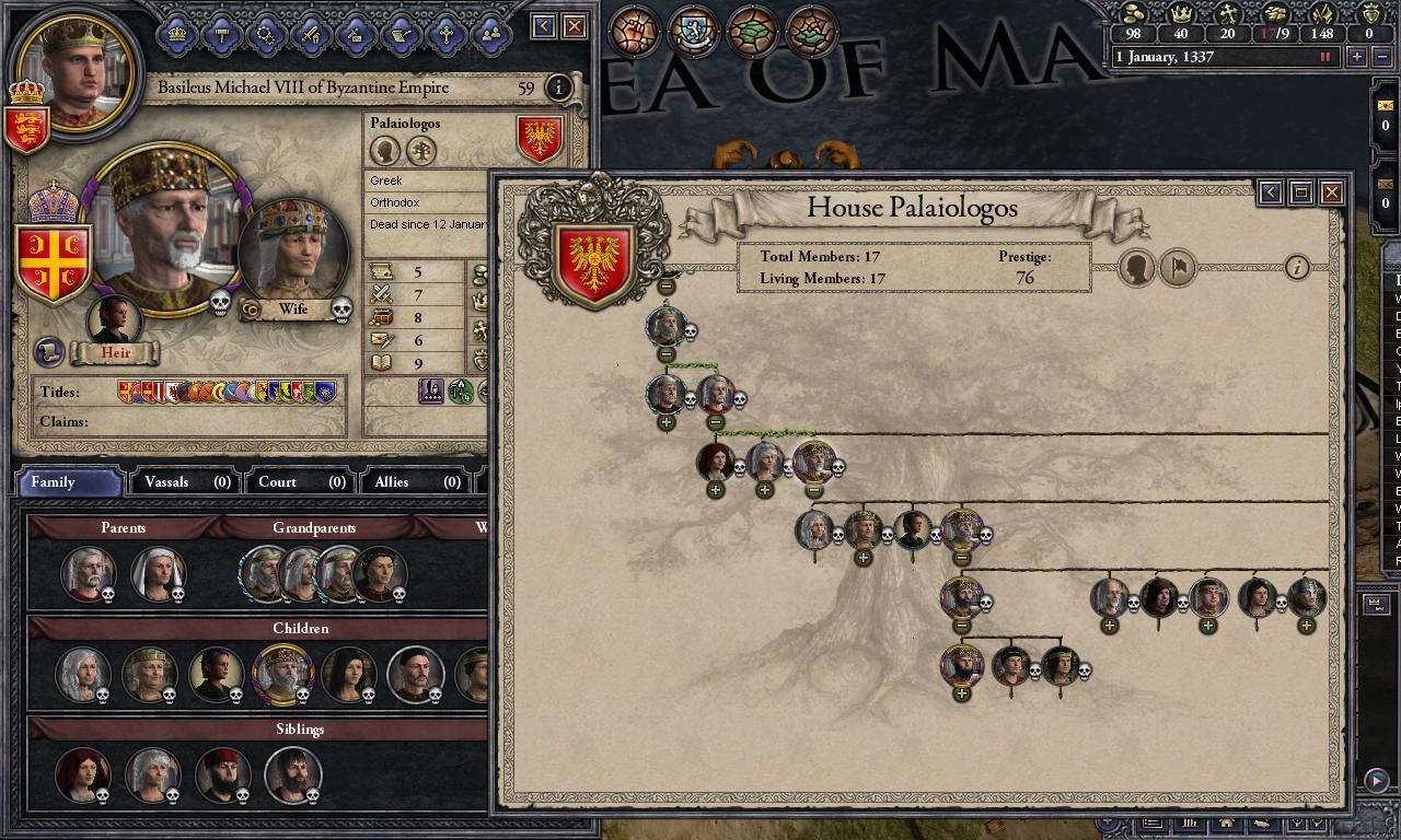 Crusader Kings II: Dynasty Shields game image