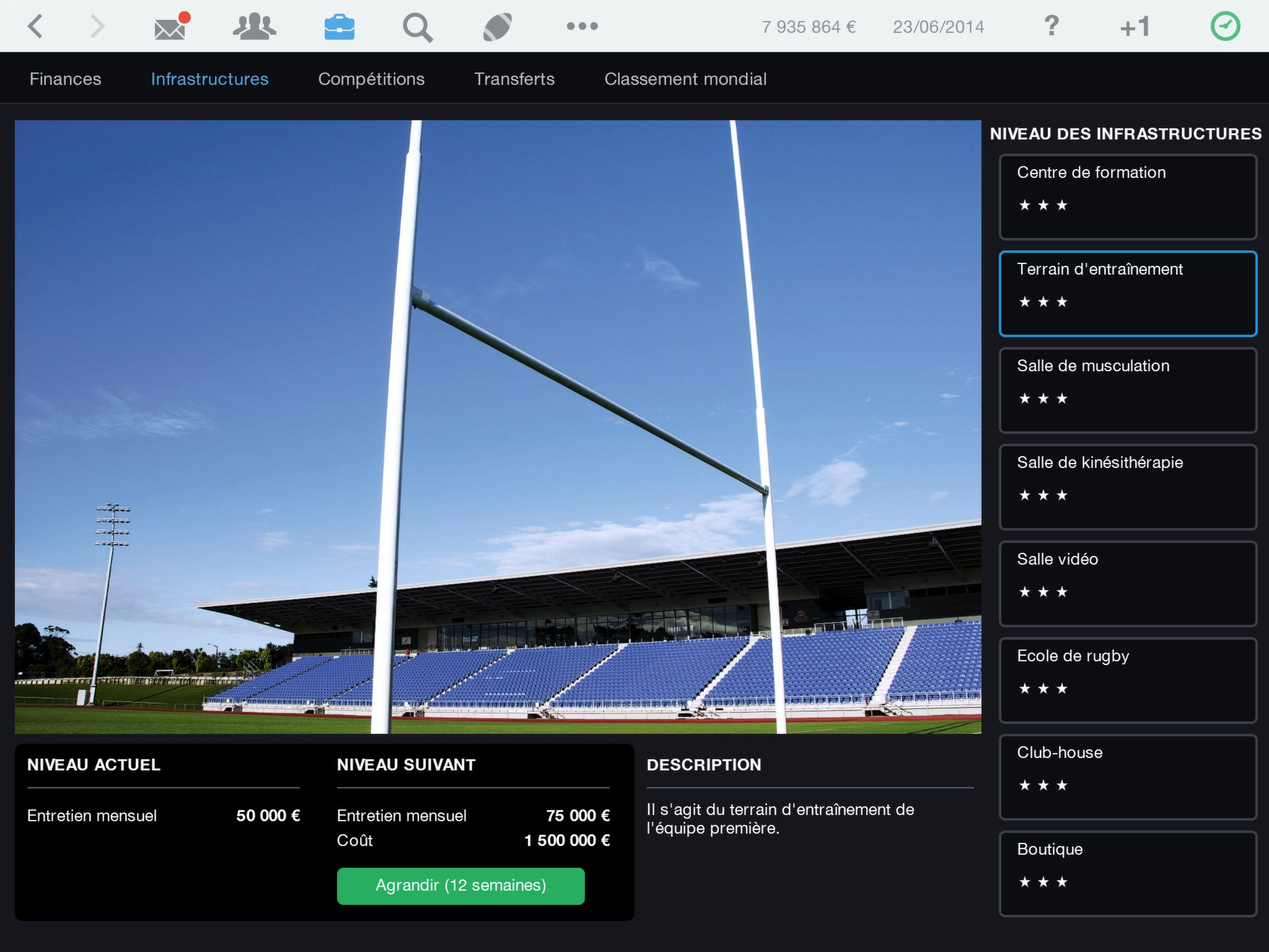 Pro Rugby Manager 2015 game image